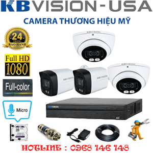 TRỌN BỘ 4 CAMERA KBVISION 2.0MP (KB-2215216)-KB-2215216