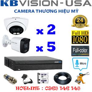 TRỌN BỘ 7 CAMERA KBVISION 2.0MP (KB-2215516)-KB-2215516