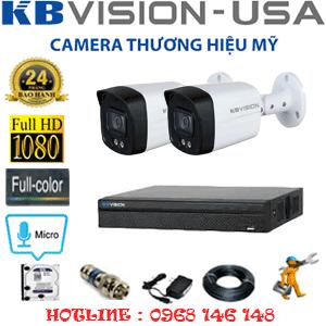 TRỌN BỘ 2 CAMERA KBVISION 2.0MP (KB-221600)-KB-221600