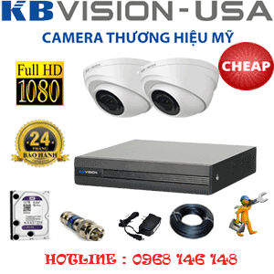 TRỌN BỘ 2 CAMERA KBVISON 2.0MP (KB-22300)-KB-22300C
