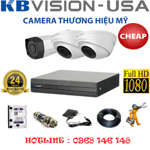 Trọn Bộ 3 Camera Kbvison 2.0Mp (Kb-22314)-KB-22314C