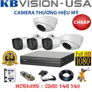 Lắp Đặt Trọn Bộ 5 Camera Kbvision 2.0Mp (Kb-22334)-KB-22334C