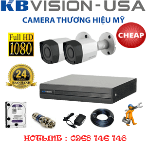 TRỌN BỘ 2 CAMERA KBVISON 2.0MP (KB-22400)-KB-22400C