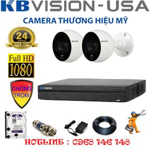 Trọn Bộ 2 Camera Kbvision 2.0Mp (Kb-22500)-KB-22500