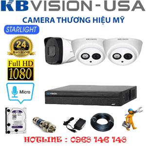 Lắp Đặt Trọn Bộ 3 Camera Kbvision 2.0Mp (Kb-22718)-KB-22718