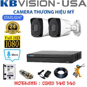 TRỌN BỘ 2 CAMERA KBVISION 2.0MP (KB-22800)-KB-22800