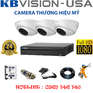 TRỌN BỘ 3 CAMERA KBVISON 2.0MP (KB-231100)-KB-231100