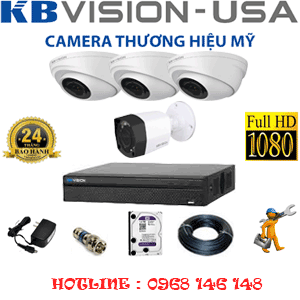 TRỌN BỘ 4 CAMERA KBVISON 2.0MP (KB-2311112)-KB-2311112