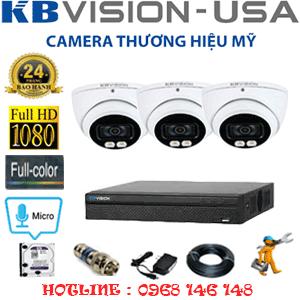 TRỌN BỘ 3 CAMERA KBVISION 2.0MP (KB-231500)-KB-231500
