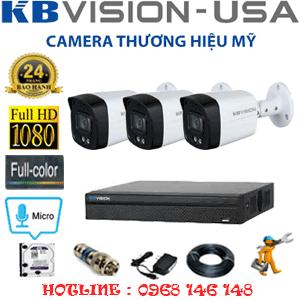 TRỌN BỘ 3 CAMERA KBVISION 2.0MP (KB-231600)-KB-231600