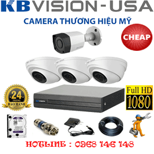 TRỌN BỘ 4 CAMERA KBVISON 2.0MP (KB-23314)-KB-23314C
