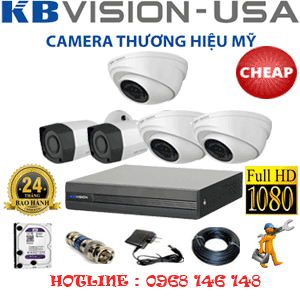 TRỌN BỘ 5 CAMERA KBVISION 2.0MP (KB-23324)-KB-23324C