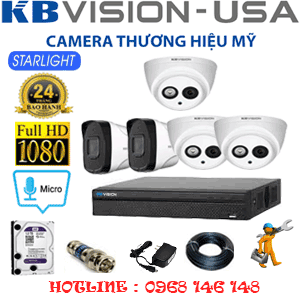 TRỌN BỘ 5 CAMERA KBVISION 2.0MP (KB-23728)-KB-23728