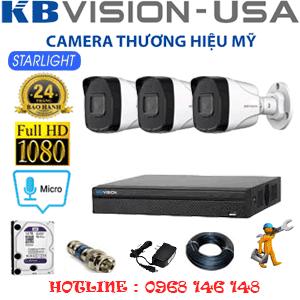 TRỌN BỘ 3 CAMERA KBVISION 2.0MP (KB-23800)-KB-23800