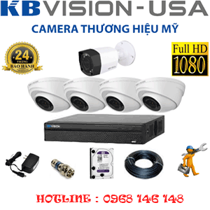 TRỌN BỘ 5 CAMERA KBVISON 2.0MP (KB-2411112)-KB-2411112