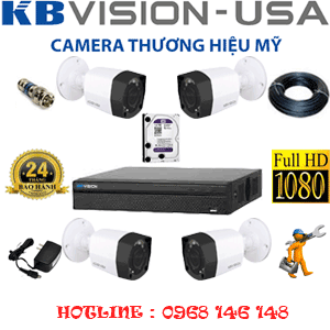 TRỌN BỘ 4 CAMERA KBVISON 2.0MP (KB-241200)-KB-241200