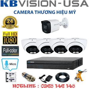 Lắp Đặt Trọn Bộ 5 Camera Kbvision 2.0Mp (Kb-2415116)-KB-2415116