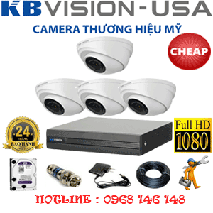 TRỌN BỘ 4 CAMERA KBVISON 2.0MP (KB-24300)-KB-24300C