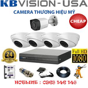 Lắp Đặt Trọn Bộ 5 Camera Kbvision 2.0Mp (Kb-24314)-KB-24314C