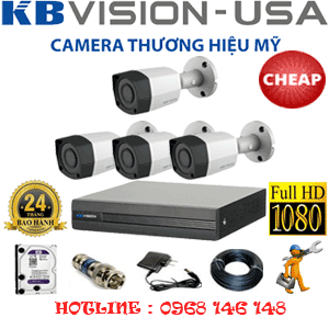 TRỌN BỘ 4 CAMERA KBVISON 2.0MP (KB-24400)-KB-24400C