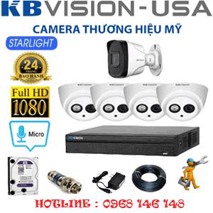 Lắp Đặt Trọn Bộ 5 Camera Kbvision 2.0Mp (Kb-24718)-KB-24718