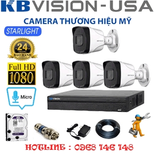 TRỌN BỘ 4 CAMERA KBVISION 2.0MP (KB-24800)-KB-24800