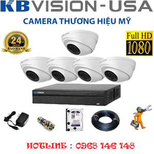 TRỌN BỘ 5 CAMERA KBVISON 2.0MP (KB-251100)-KB-251100