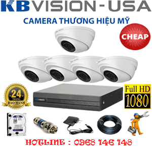 TRỌN BỘ 5 CAMERA KBVISION 2.0MP (KB-25300)-KB-25300C