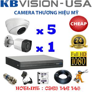 Lắp Đặt Trọn Bộ 6 Camera Kbvision 2.0Mp (Kb-25314)-KB-25314C