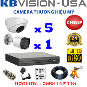 TRỌN BỘ 6 CAMERA KBVISION 2.0MP (KB-25314)-KB-25314C