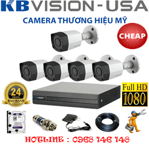 TRỌN BỘ 5 CAMERA KBVISION 2.0MP (KB-25400)-KB-25400C