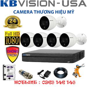 Trọn Bộ 5 Camera Kbvision 2.0Mp (Kb-25500)-KB-25500