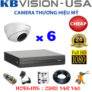 TRỌN BỘ 6 CAMERA KBVISION 2.0MP (KB-26300)-KB-26300C