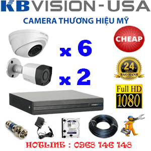 TRỌN BỘ 8 CAMERA KBVISION 2.0MP (KB-26324)-KB-26324C