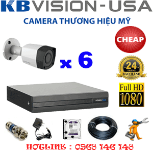 TRỌN BỘ 6 CAMERA KBVISION 2.0MP (KB-26400)-KB-26400C