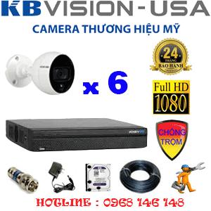 TRỌN BỘ 6 CAMERA KBVISION 2.0MP (KB-26500)-KB-26500