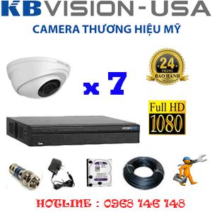 TRỌN BỘ 7 CAMERA KBVISON 2.0MP (KB-271100)-KB-271100