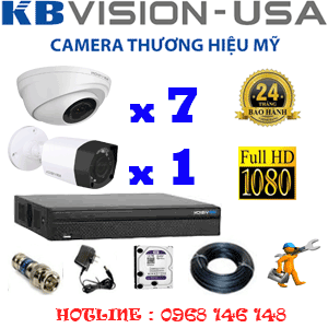 TRỌN BỘ 8 CAMERA KBVISON 2.0MP (KB-2711112)-KB-2711112