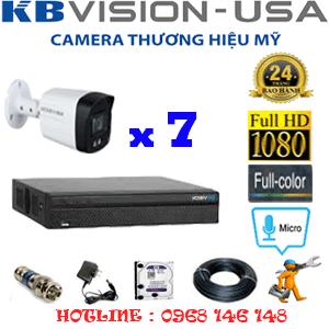 TRỌN BỘ 7 CAMERA KBVISION 2.0MP (KB-271600)-KB-271600
