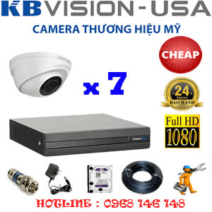 Lắp Đặt Trọn Bộ 7 Camera Kbvision 2.0Mp (Kb-27300)-KB-27300C