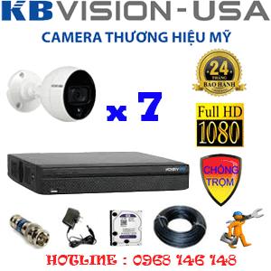 Trọn Bộ 7 Camera Kbvision 2.0Mp (Kb-27500)-KB-27500