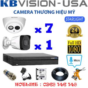 Lắp Đặt Trọn Bộ 8 Camera Kbvision 2.0Mp (Kb-27718)-KB-27718