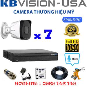 TRỌN BỘ 7 CAMERA KBVISION 2.0MP (KB-27800)-KB-27800