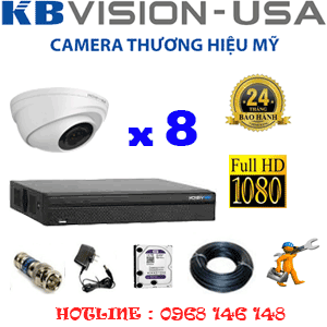 TRỌN BỘ 8 CAMERA KBVISON 2.0MP (KB-281100)-KB-281100