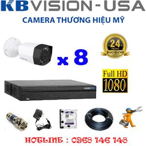 TRỌN BỘ 8 CAMERA KBVISON 2.0MP (KB-281200)-KB-281200
