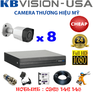 TRỌN BỘ 8 CAMERA KBVISION 2.0MP (KB-28400)-KB-28400C