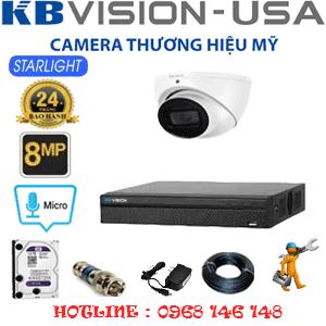 Lắp Đặt Trọn Bộ 1 Camera Kbvison 8.0Mp (Kb-811300)-KB-811300