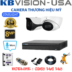 TRỌN BỘ 2 CAMERA KBVISON 8.0MP (KB-8113114)-KB-8113114