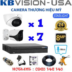 TRỌN BỘ 8 CAMERA KBVISON 8.0MP (KB-8113714)-KB-8113714