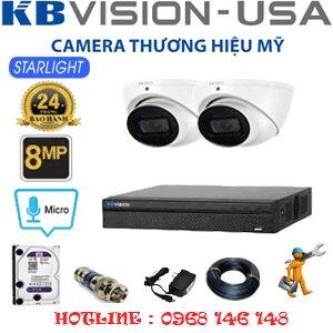 TRỌN BỘ 2 CAMERA KBVISON 8.0MP (KB-821300)-KB-821300